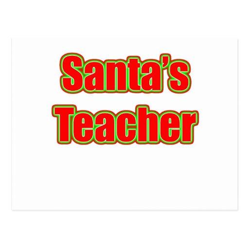 Santa's Teacher Postcards