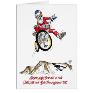 Santa's Test Ride - BMX Christmas card