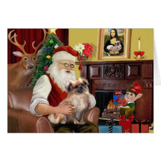 Santa's Tibetan Spaniel (#3) Card
