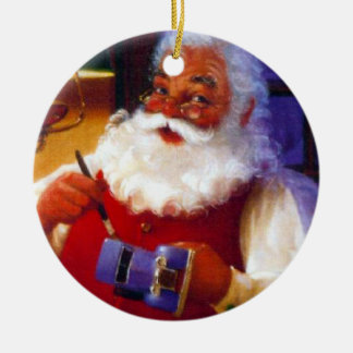 Santa's Toy Shop Christmas Ornament