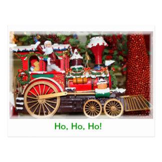 Santa's train postcard
