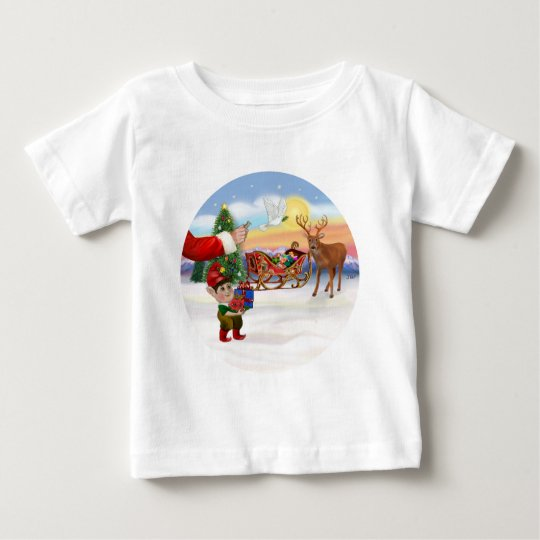Santas Treat - Add Your Pet Here Baby T-Shirt