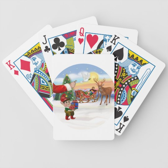 Santas Treat - Add Your Pet Here Bicycle Playing Cards