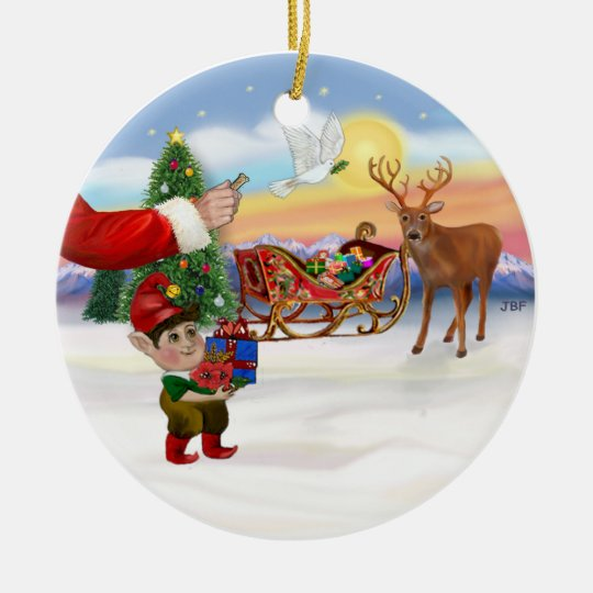 Santas Treat - Add Your Pet Here Ceramic Ornament