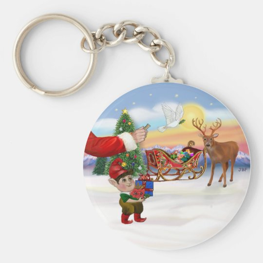Santas Treat - Add Your Pet Here Keychain