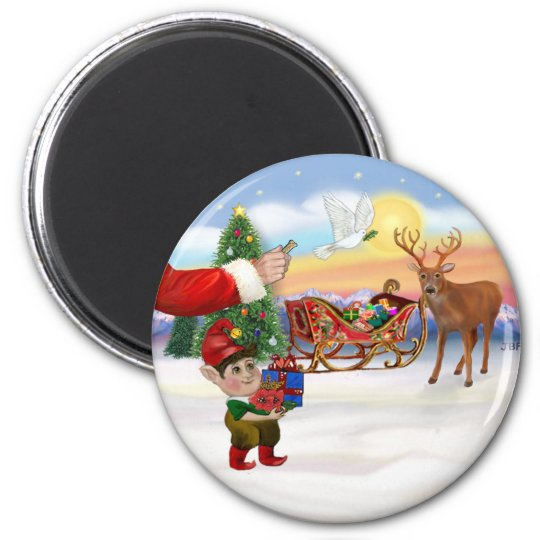 Santas Treat - Add Your Pet Here Magnet