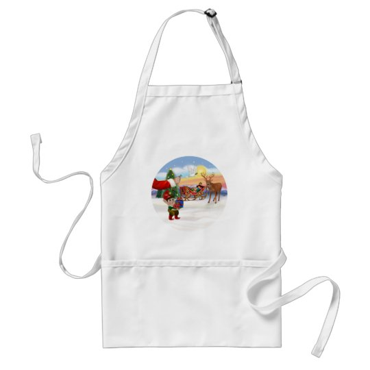 Santas Treat - Add Your Pet Here Standard Apron