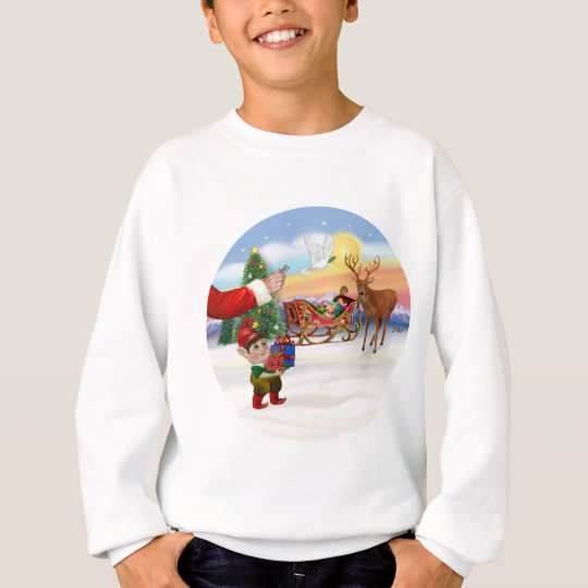 Santas Treat - Add Your Pet Here Sweatshirt