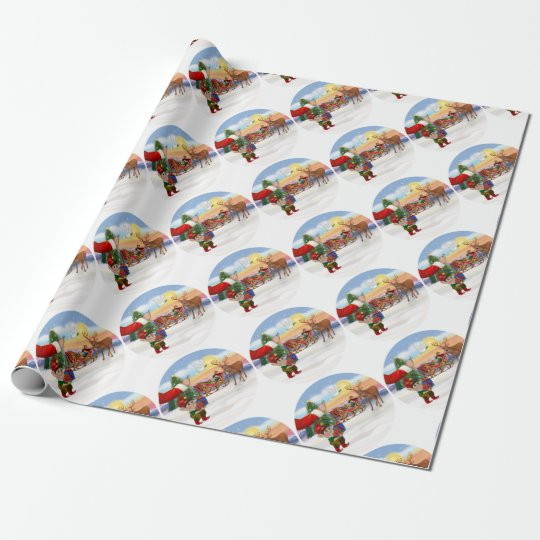 Santas Treat - Add Your Pet Here Wrapping Paper