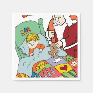 Santa's Visit II Paper Napkin
