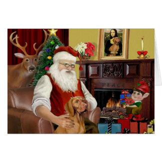 Santa's Vizsla Card