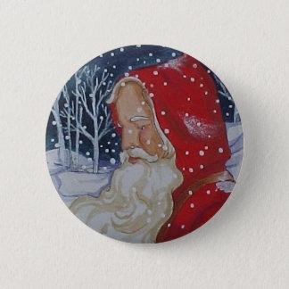 Santa's Walk Christmas Button
