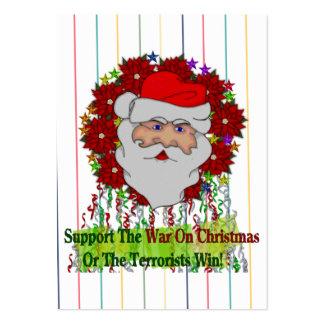 Santa's War On Xmas Large Business Card