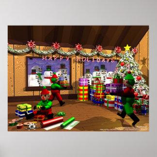 Santa's Warehouse Poster