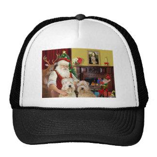 Santa's Wheaten Terriers (TWO) Trucker Hat