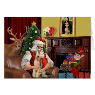 Santa's Wire Fox Terrier (#3) Card