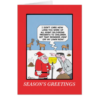 Santa's Work is Never Done Card