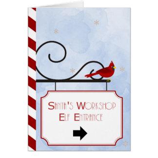 Santa's Workshop | Christmas Card