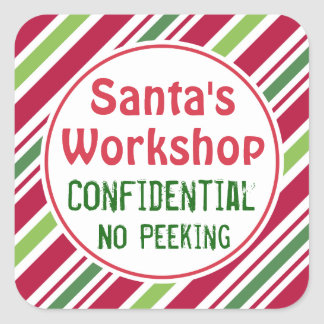 Santa's Workshop Confidential Christmas Stickers