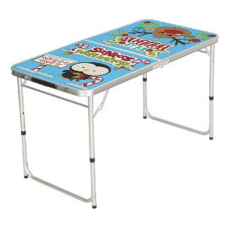 Santa's Workshop Penguin/ Jolly Holidays Beer Pong Table