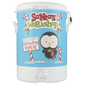 Santa's Workshop Penguin/Jolly Holidays Cooler
