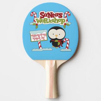 Santa's Workshop Penguin Ping-Pong Paddle