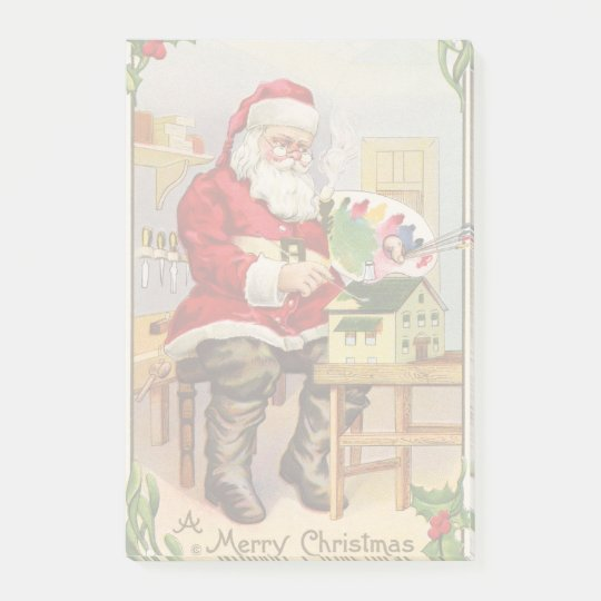 Santa's Workshop vintage illustration Post-it Notes