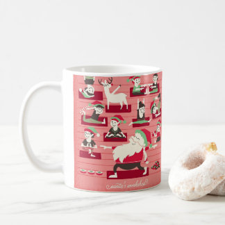 Santa's Workshop Yoga Christmas Mug