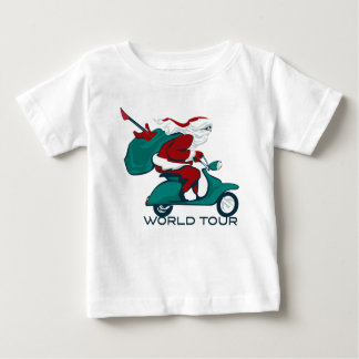 Santa's World Tour Scooter Baby T-Shirt