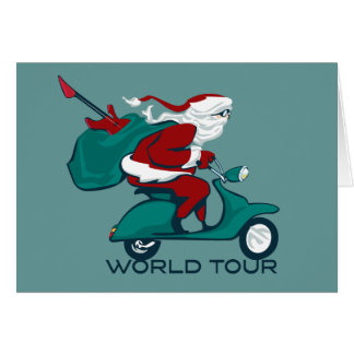Santa's World Tour Scooter Card