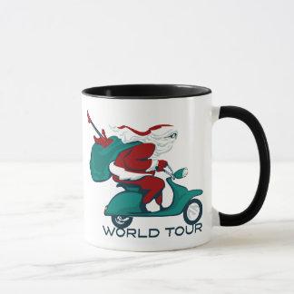 Santa's World Tour Scooter Mug