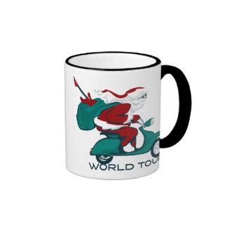 Santa's World Tour Scooter Ringer Mug
