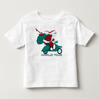 Santa's World Tour Scooter Toddler T-shirt