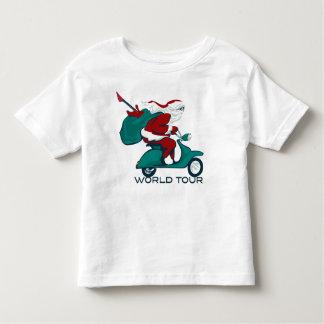 Santa's World Tour Scooter Tshirt