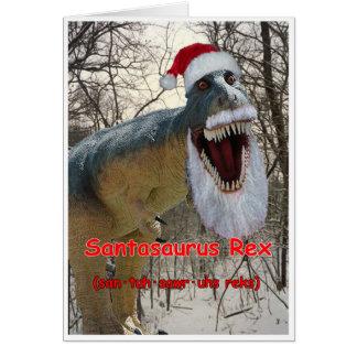 Santasaurus Rex Holiday Greeting Card