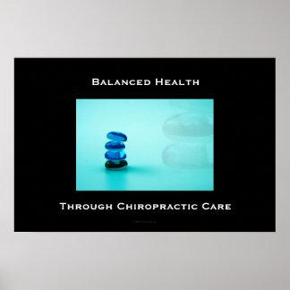 Santé équilibrée par l affiche 1 de soin de chirop