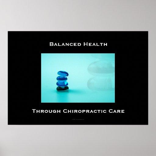 Santé équilibrée par l'affiche 1 de soin de chirop