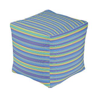 sante fe stripes pouf