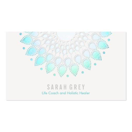 Santé florale bleue et rendez-vous holistique de s cartes de visite personnelles