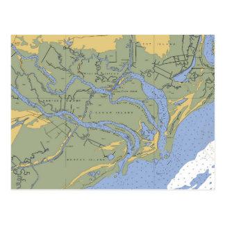 Santee swamp, SC Nautical Chart Postcard