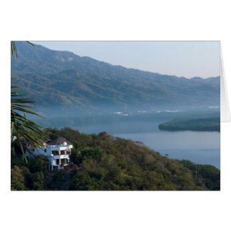 Santiago Bay Morning in Manzanillo Card