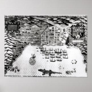 Santiago, Cape Verde, 1589 2 Print