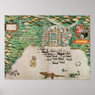 Santiago, Cape Verde, 1589 Posters
