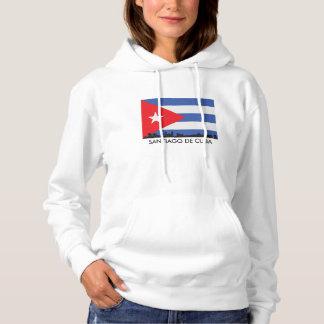 Santiago De Cuba Skyline Cuban Flag Hoodie