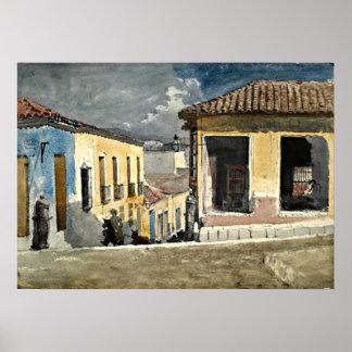 Santiago de Cuba Street Scene Poster