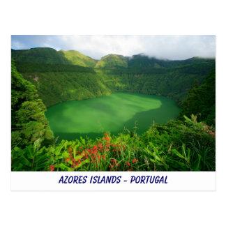 Santiago Lake, Azores Postcard