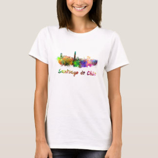 Santiago of Chile skyline in watercolor T-Shirt