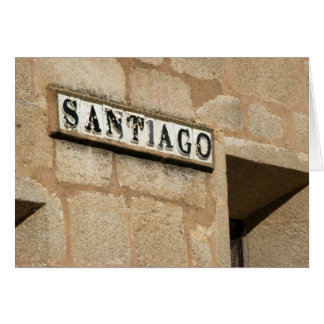 Santiago Street Sign Card