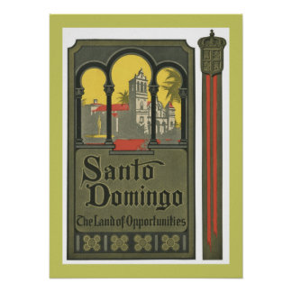 Santo Domingo (tan) Poster