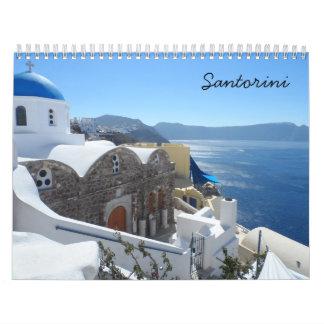 Santorini 2018 wall calendars